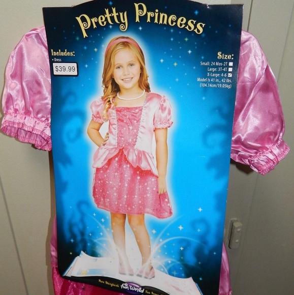 b0d3ae7ac990 Fun World Costumes | Pretty Pink Princess Costume | Poshmark